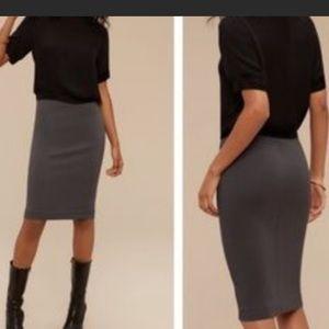 Wilfred Aritzia Charcoal Gray Skirt Small